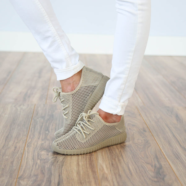 Taupe Mesh Tennies