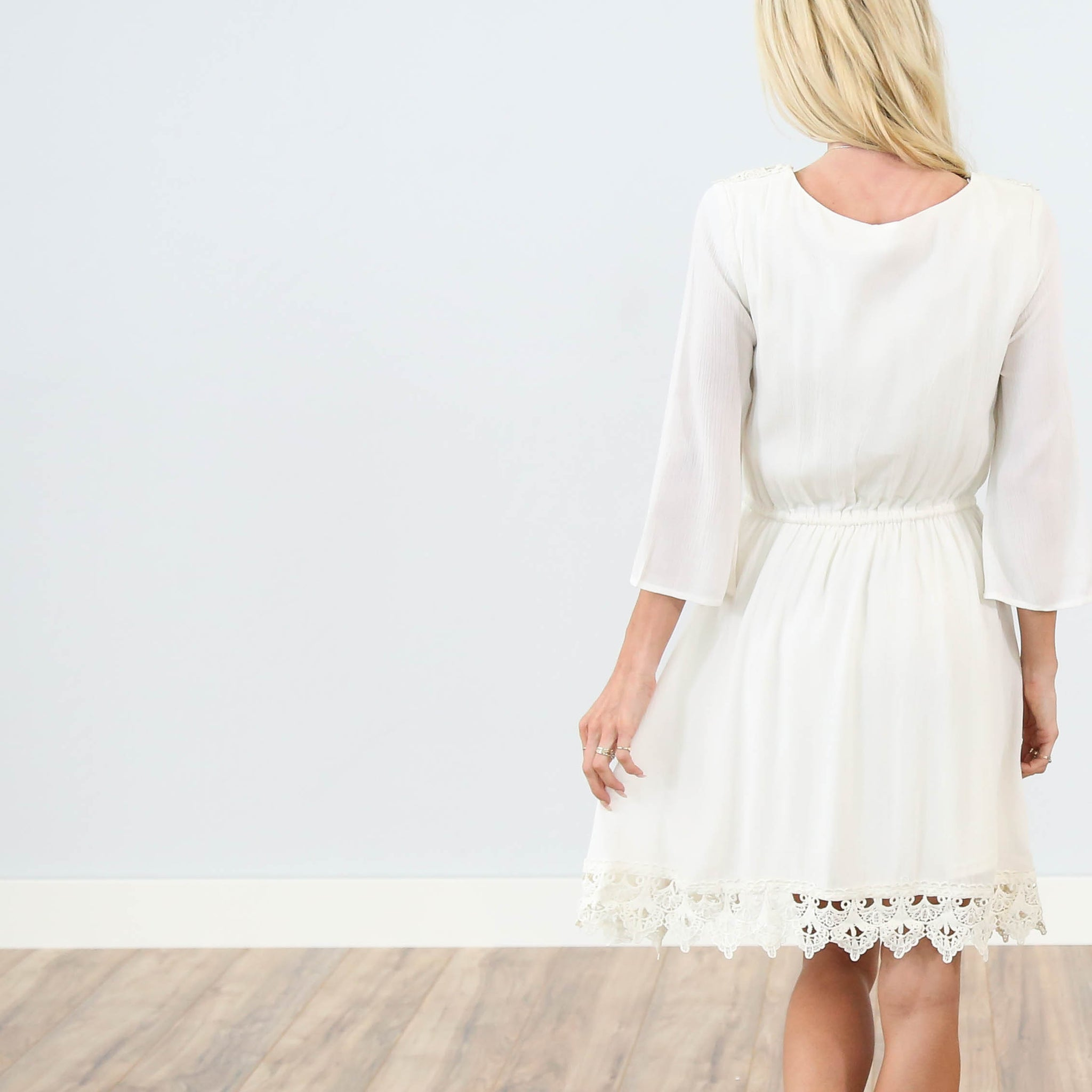 Pamela Lace Dress in Ivory