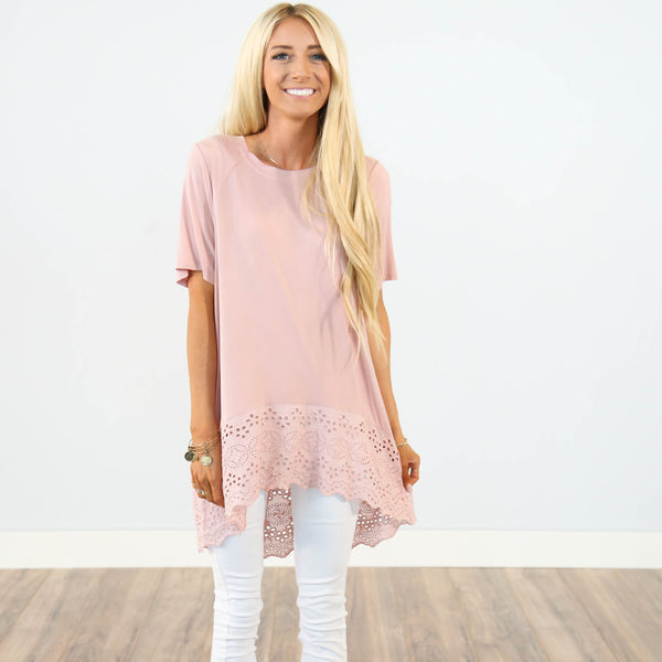Clement Top in Dusty Pink