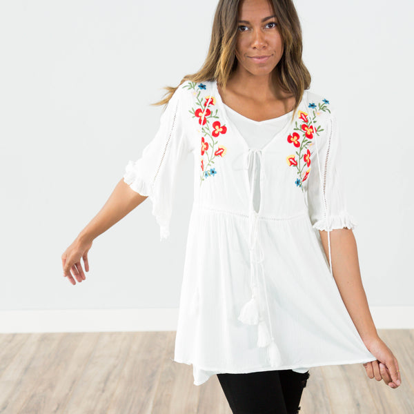Rosa Embroidered Top