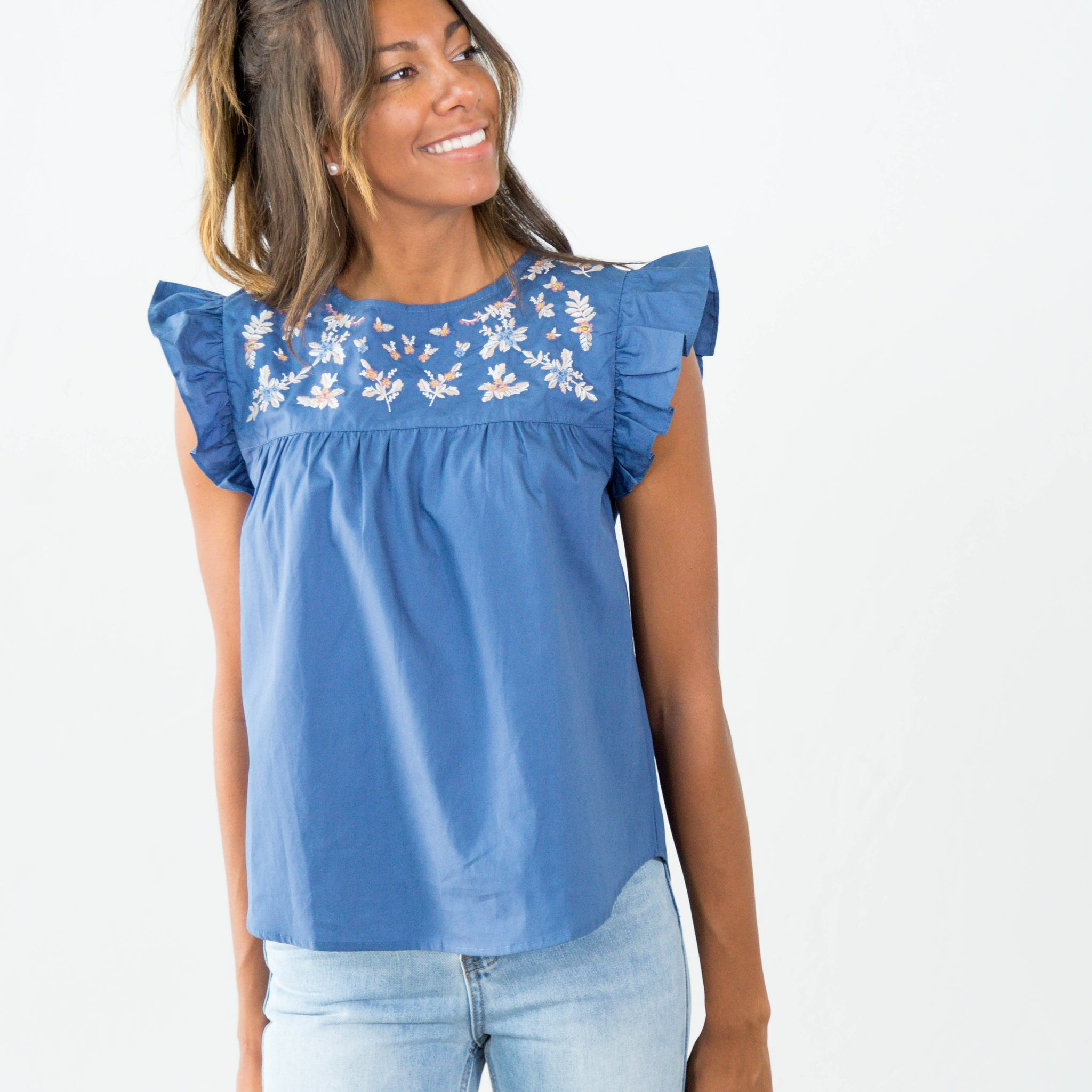 Saylor Embroidered Top