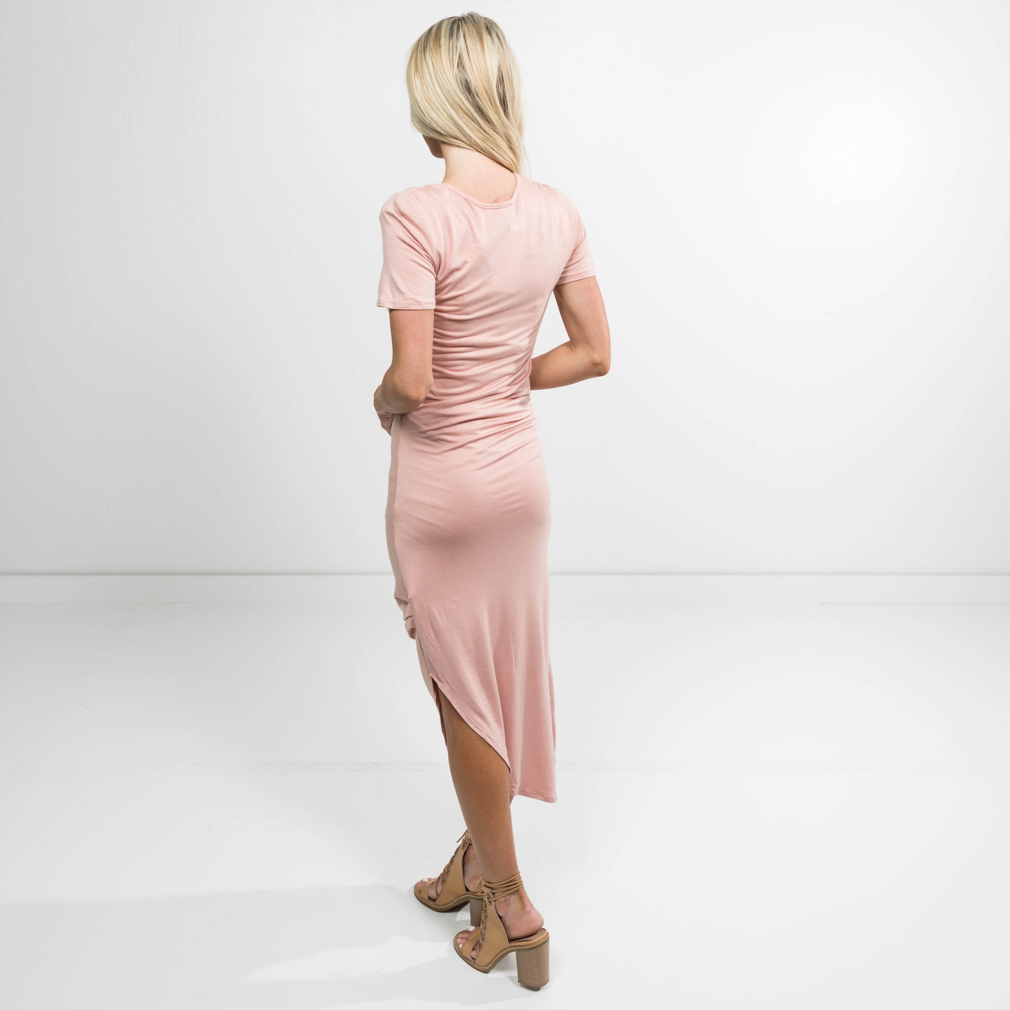 Daphne Maxi Dress in Blush