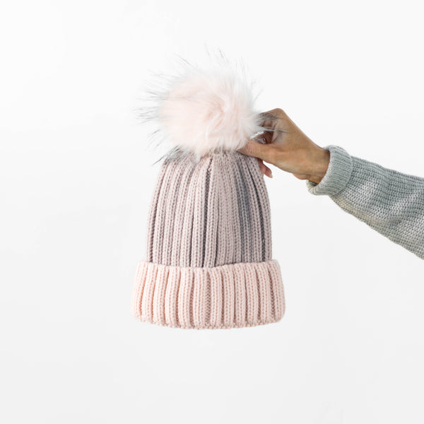 Blush Two-Tone Beanie