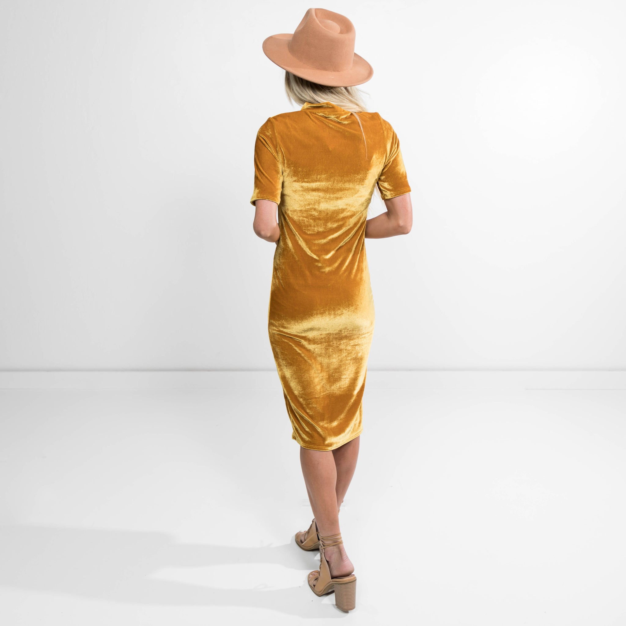 Julianna Dress in Mustard