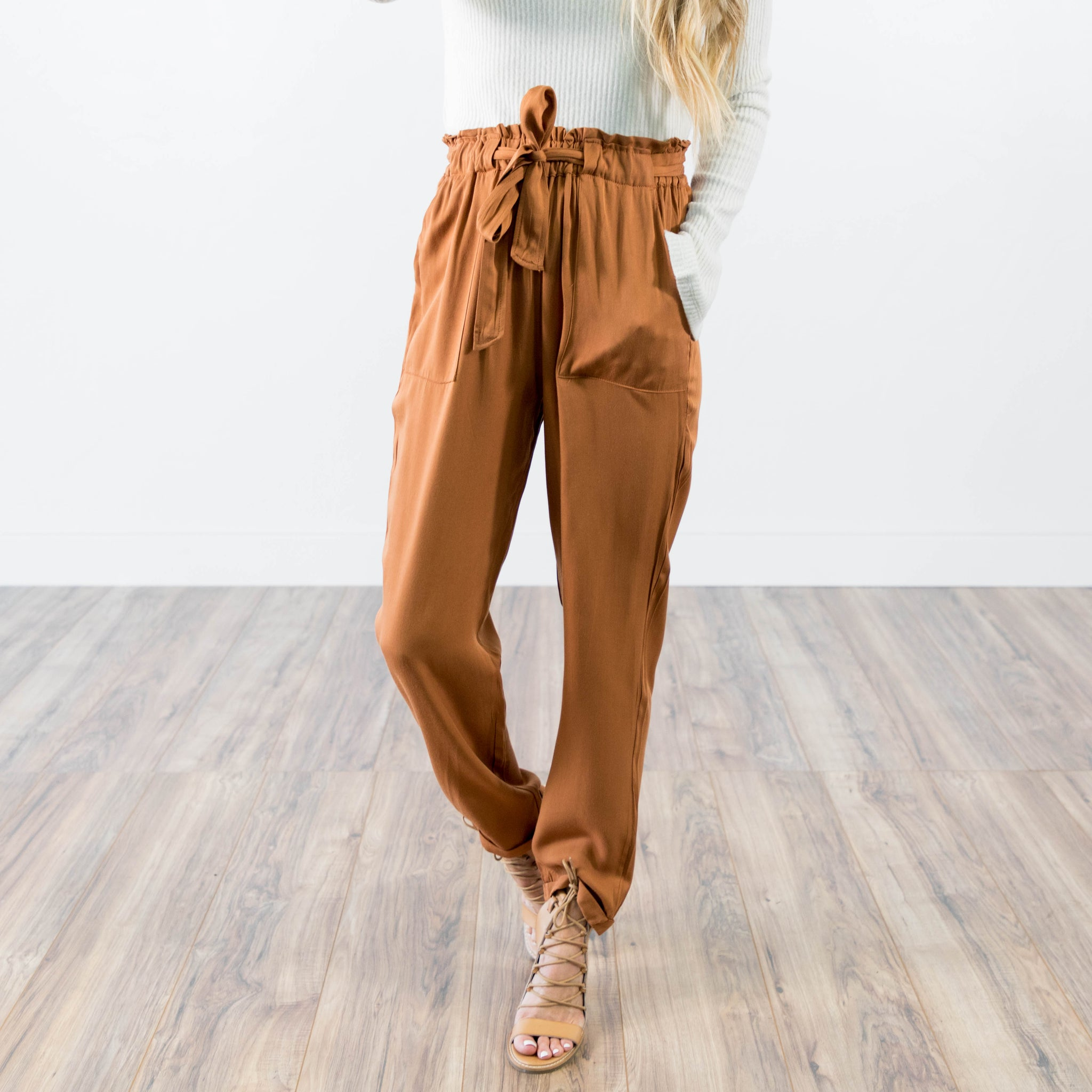 Claire Pant in Rust
