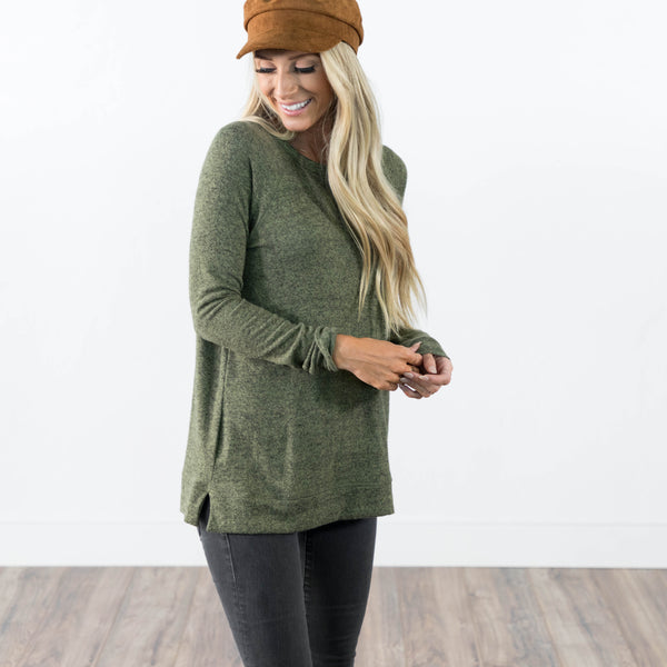 Tina Sweater in Olive
