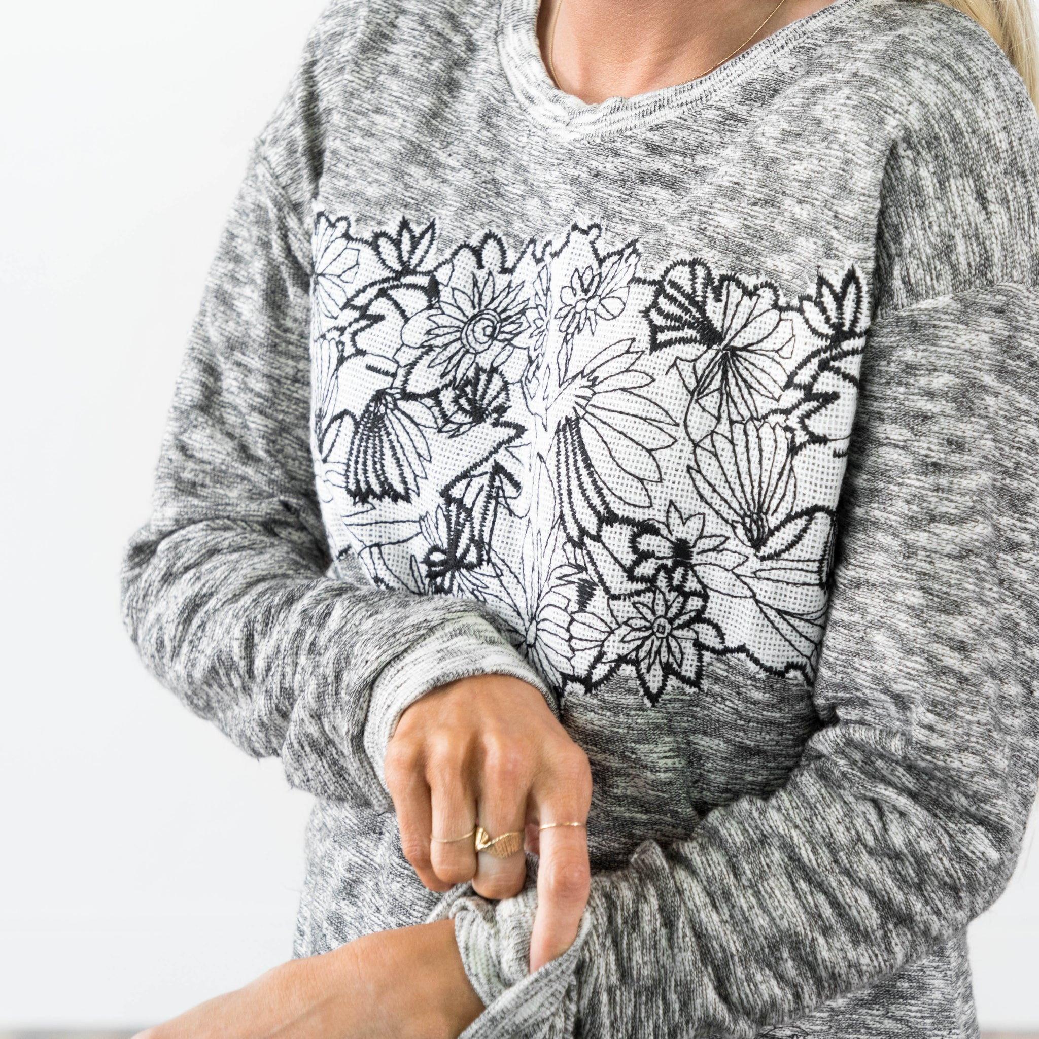 Jasmine Embroidered Sweater
