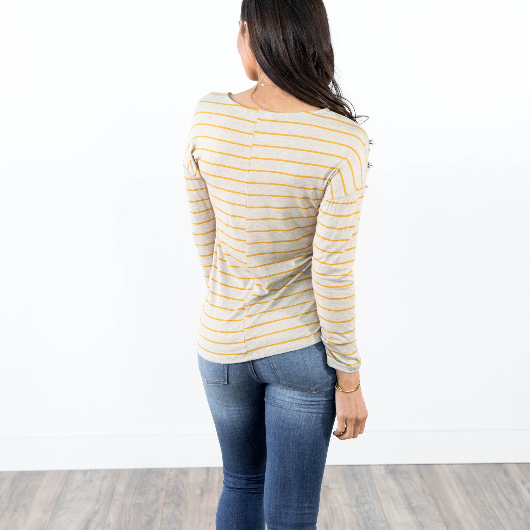 Rosalind Mustard Stripe Top