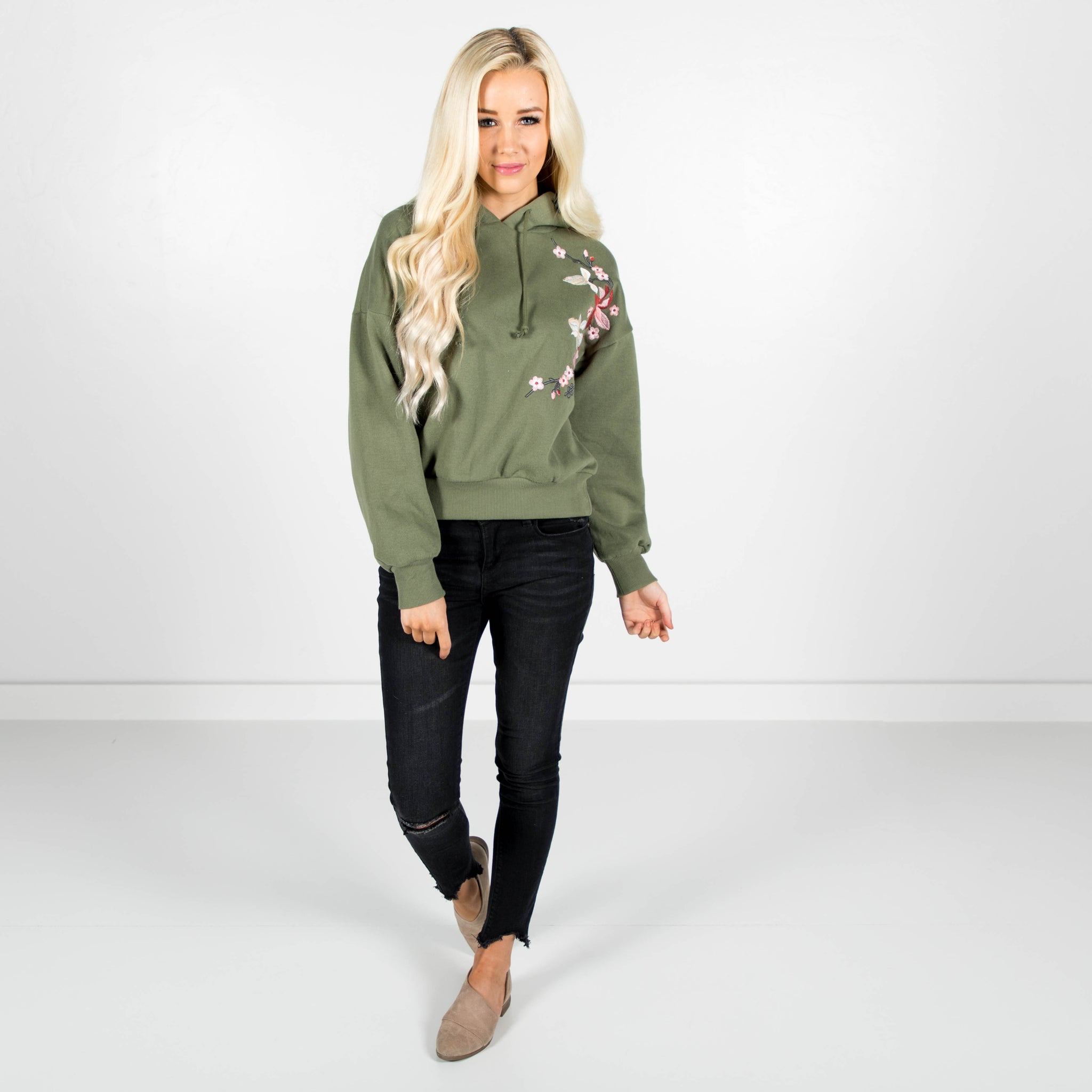 Addison Embroidered Hoodie