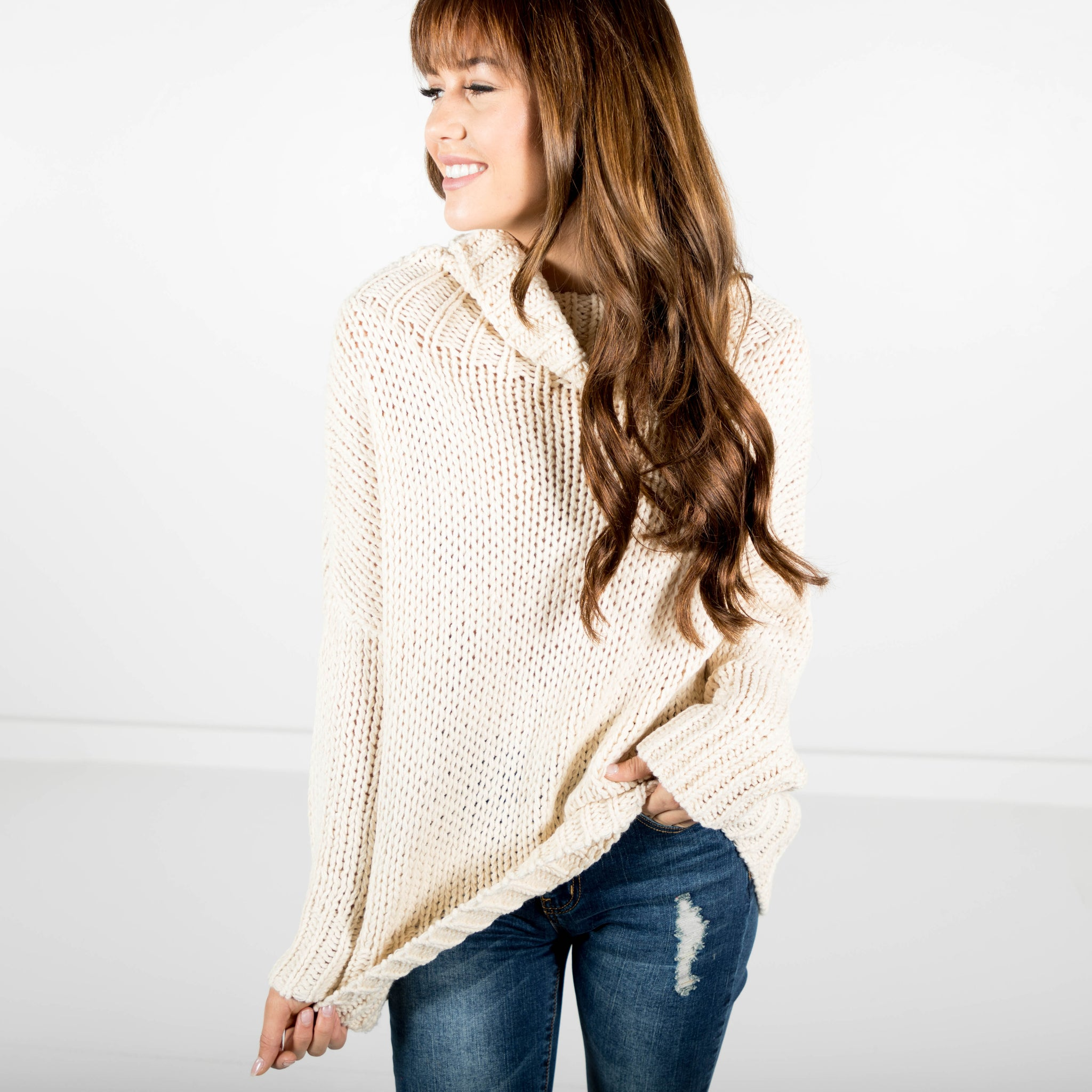Kat Chunky Knit Turtle Neck