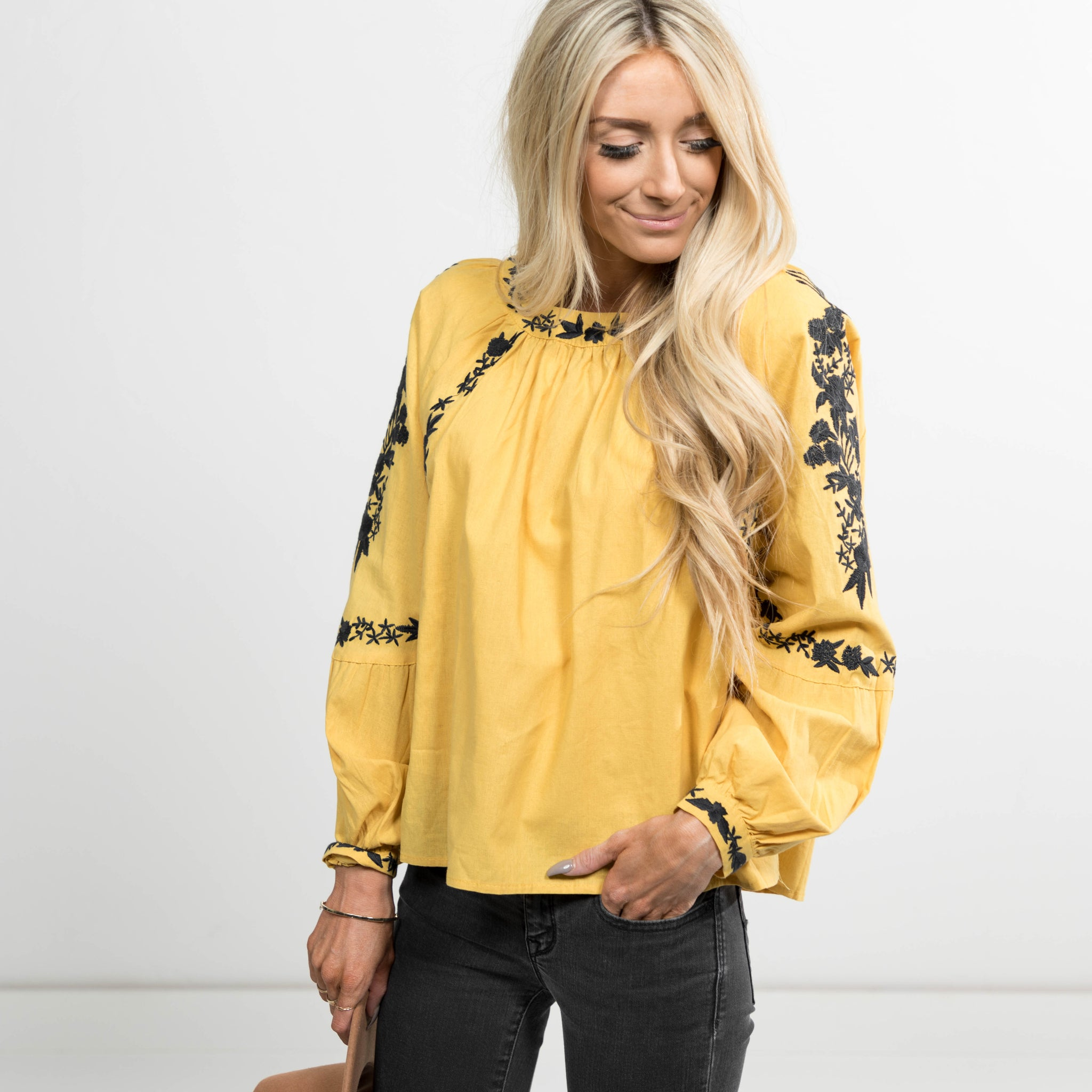 Axtyn  Embroidered Top