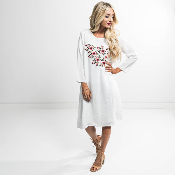 Archer Embroidered Dress