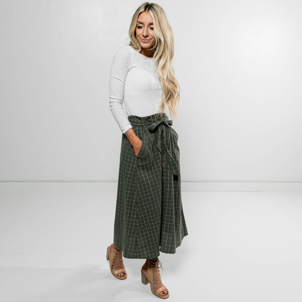 Manda Plaid Skirt
