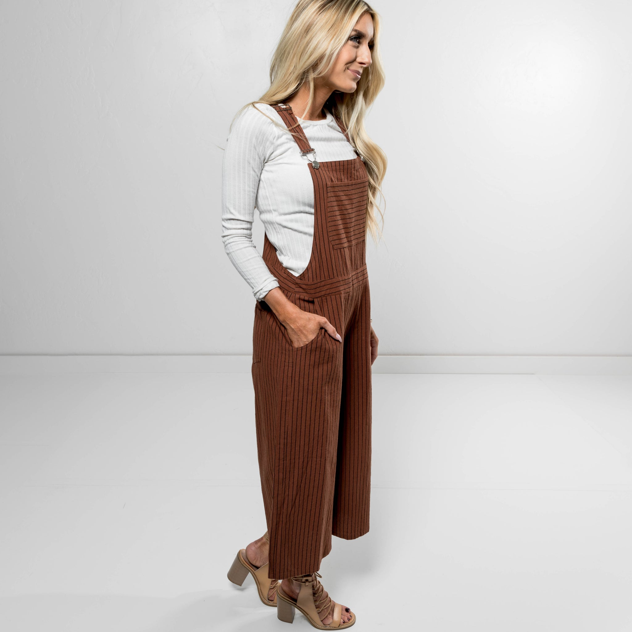Alameda Overall Pant in Rust