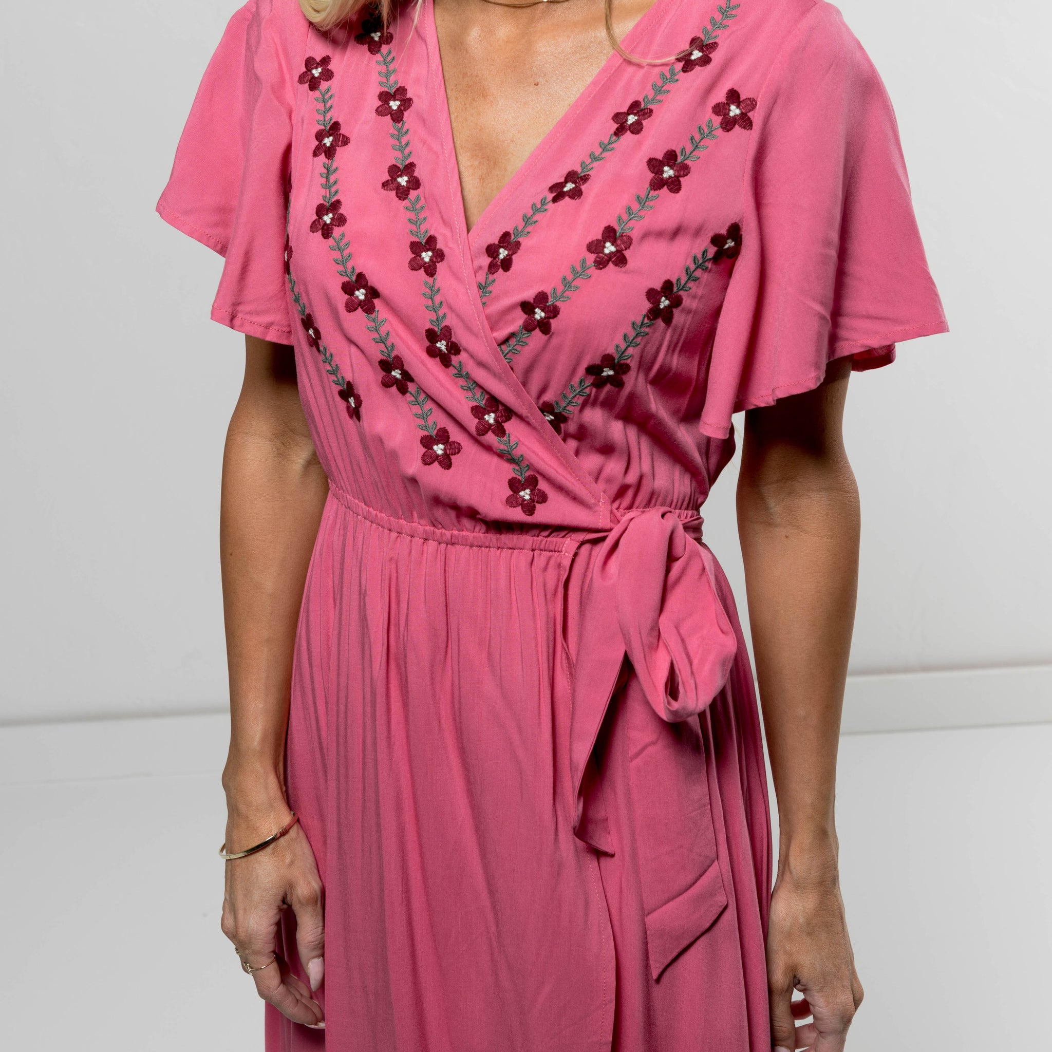 Auden Pink Wrap Dress