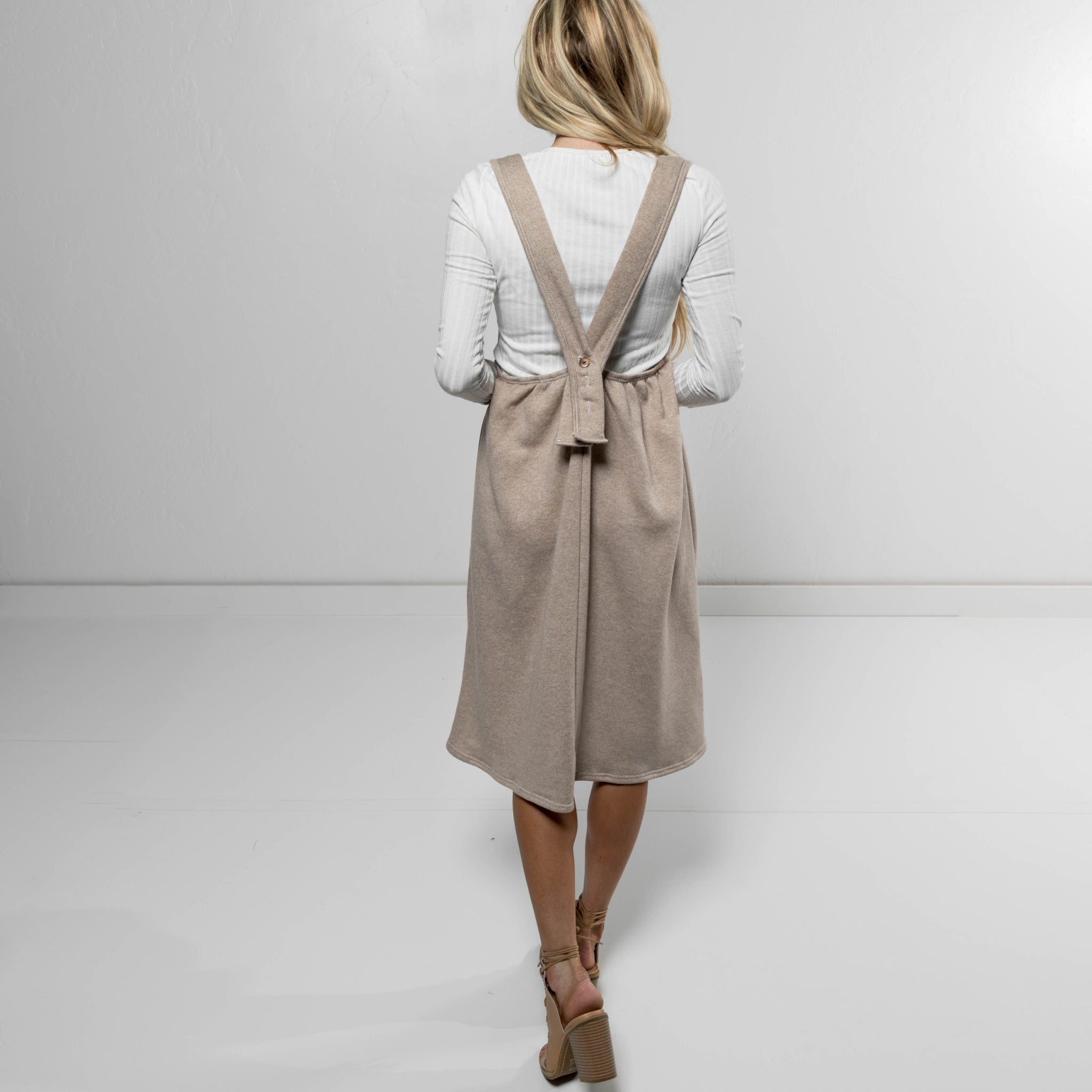 Aidrey Overall Dress in Oatmeal