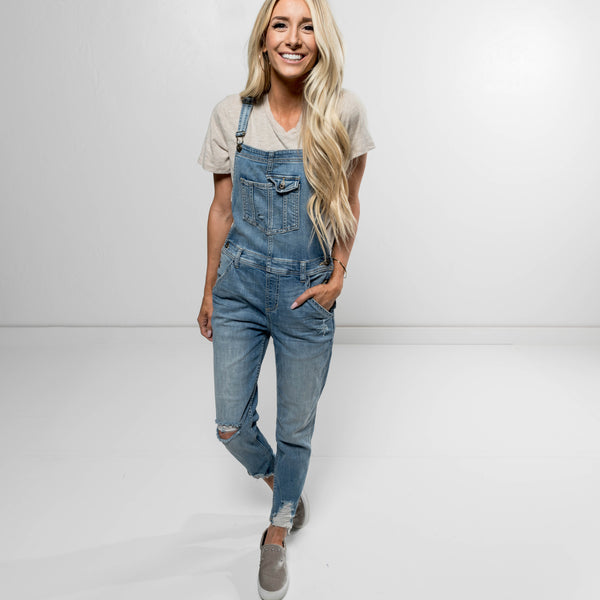 Bethany Destroyed Denim Overall