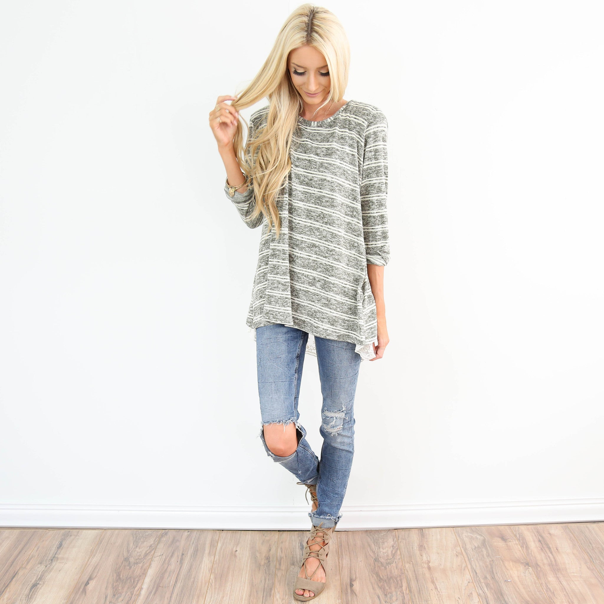 Esamey Stripe Sweater