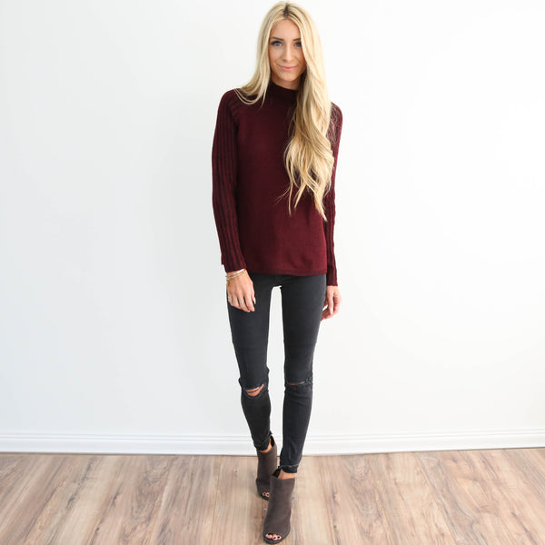 Bliss High Neck Sweater