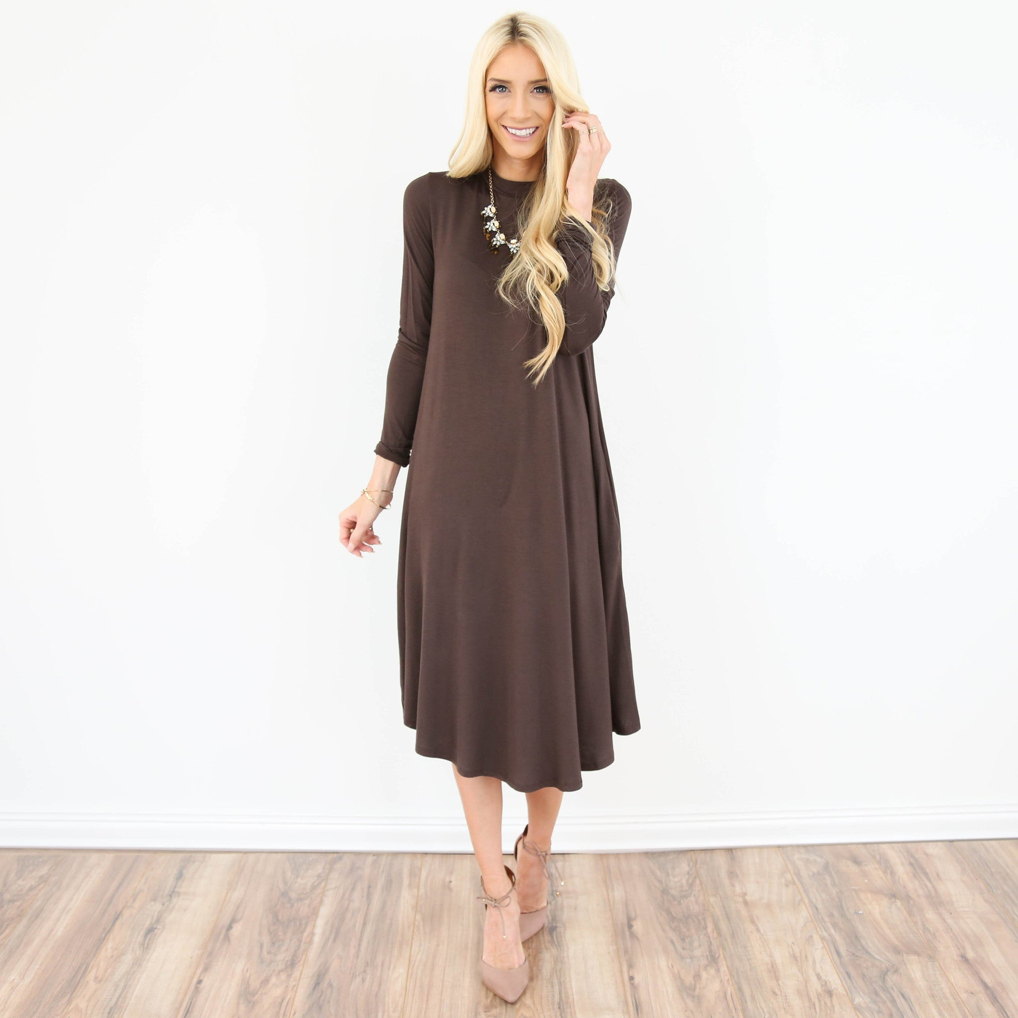 Deedee Longsleeve Midi Dress