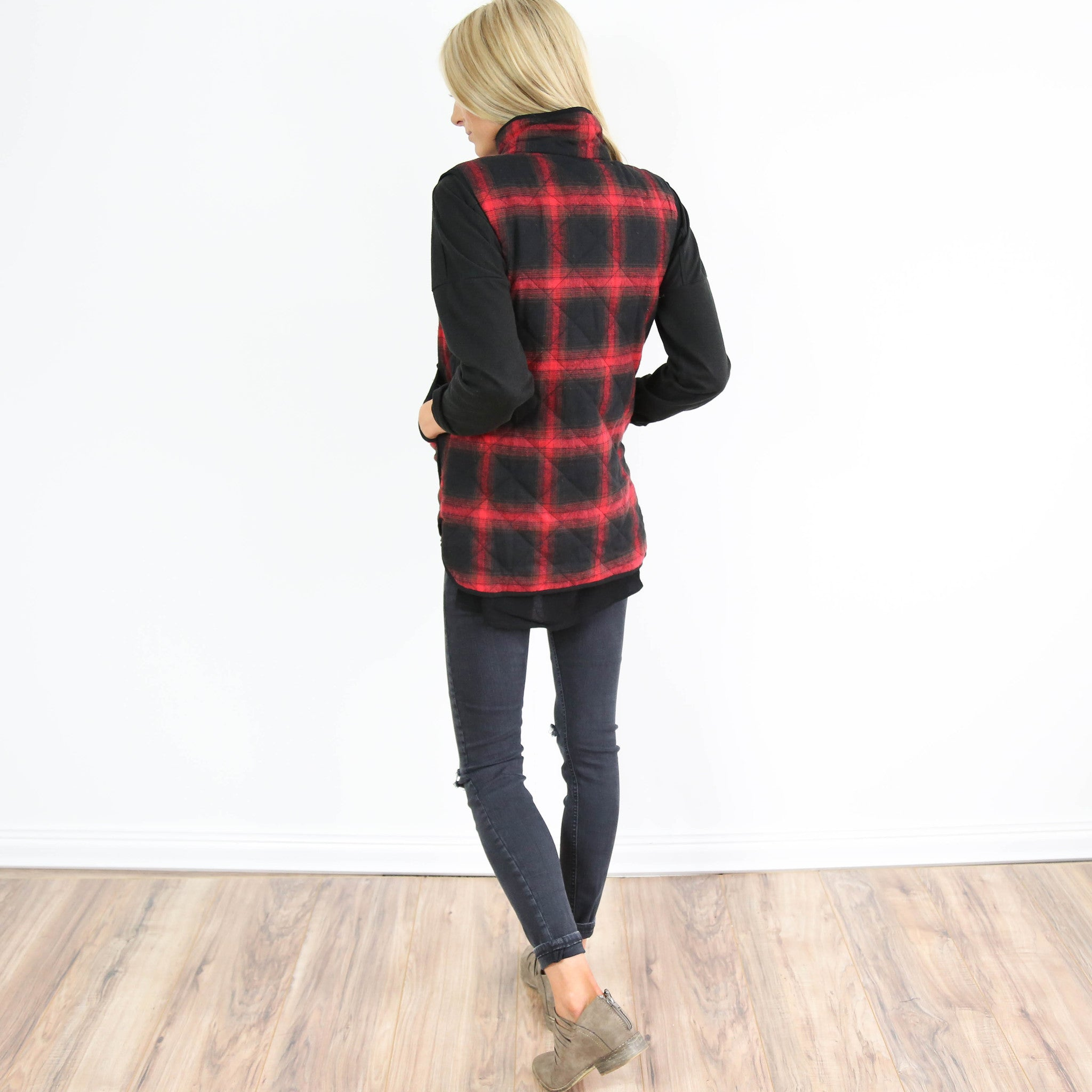 Red Plaid Vest