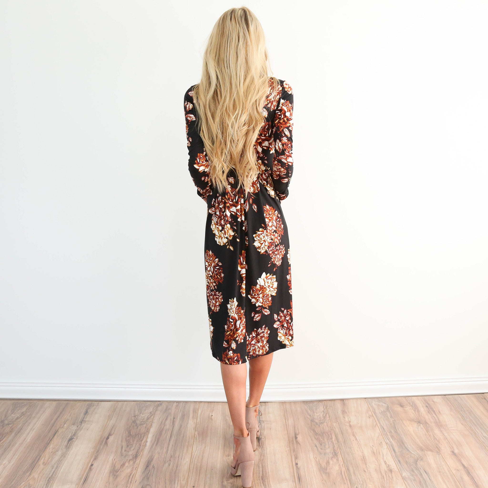 Midnight Sky Floral Dress