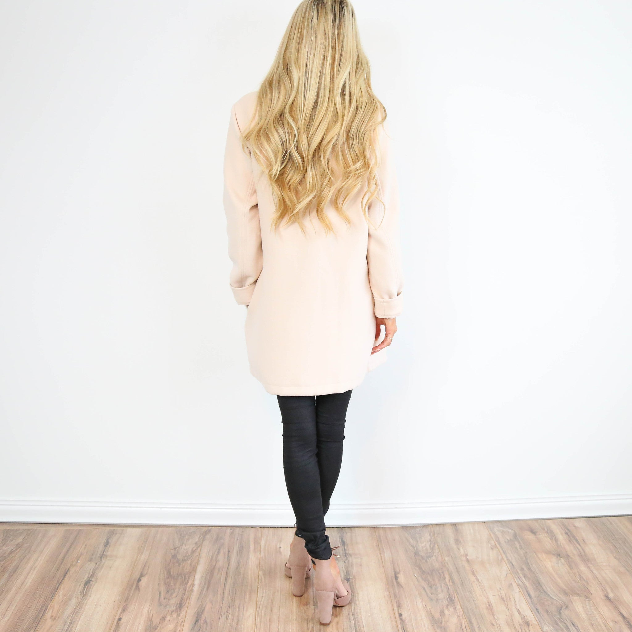 Bow Coat in Blush