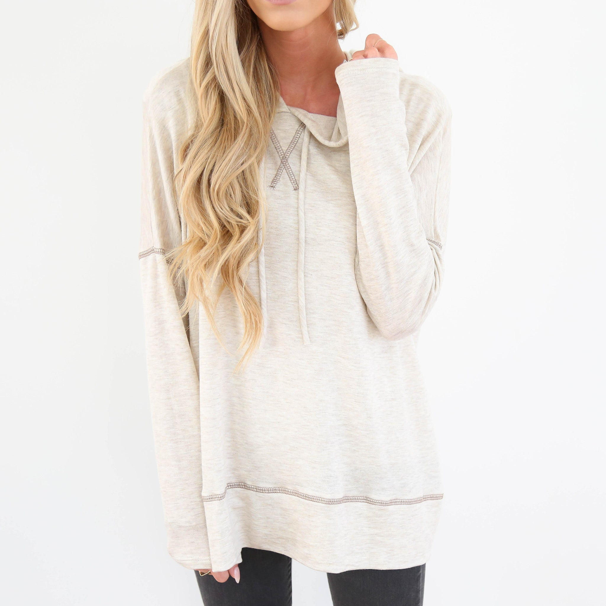 Cozy Autumn Hoodie in Cream