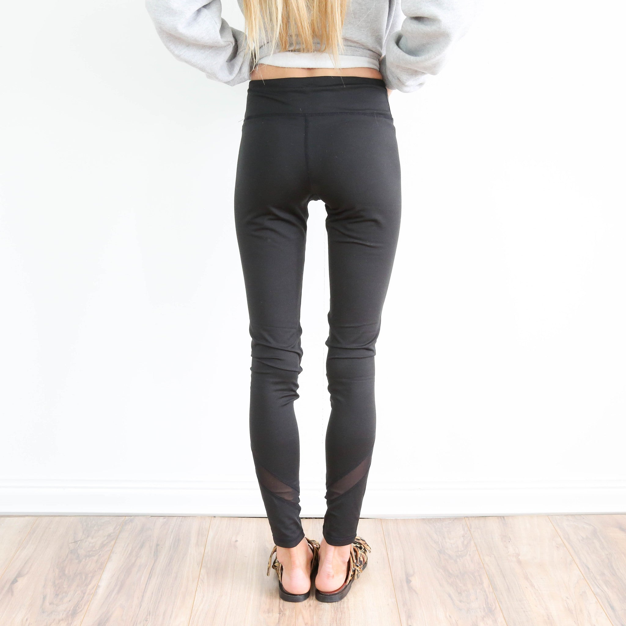 Black Sheer Bottom Legging
