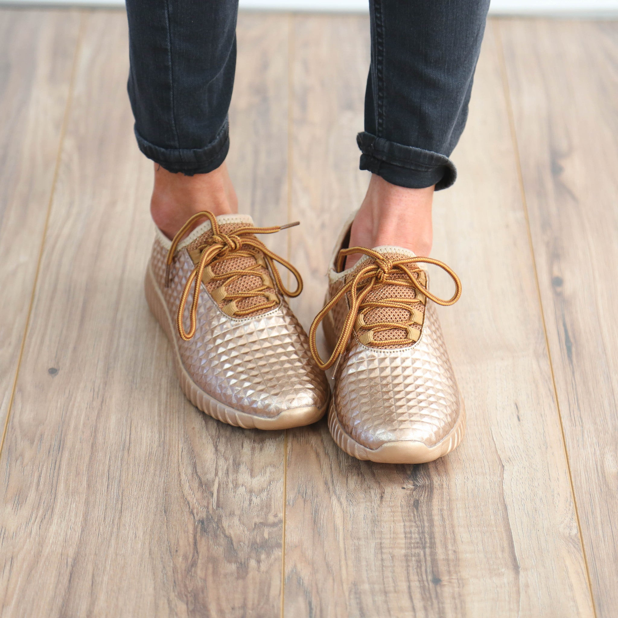 Rose Gold Tennies (Re-stocking in May!)