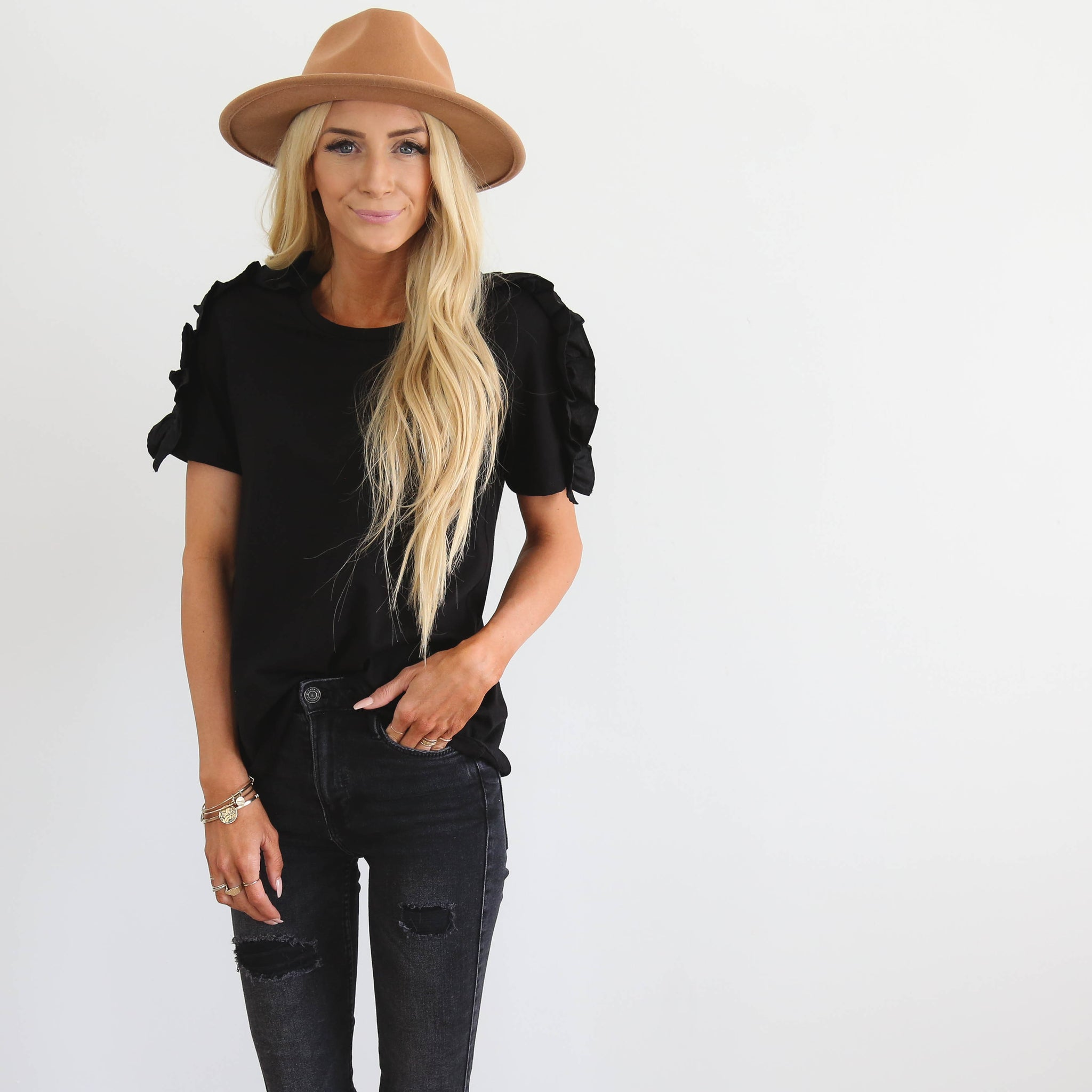 S & Co. Adelise Top in Black