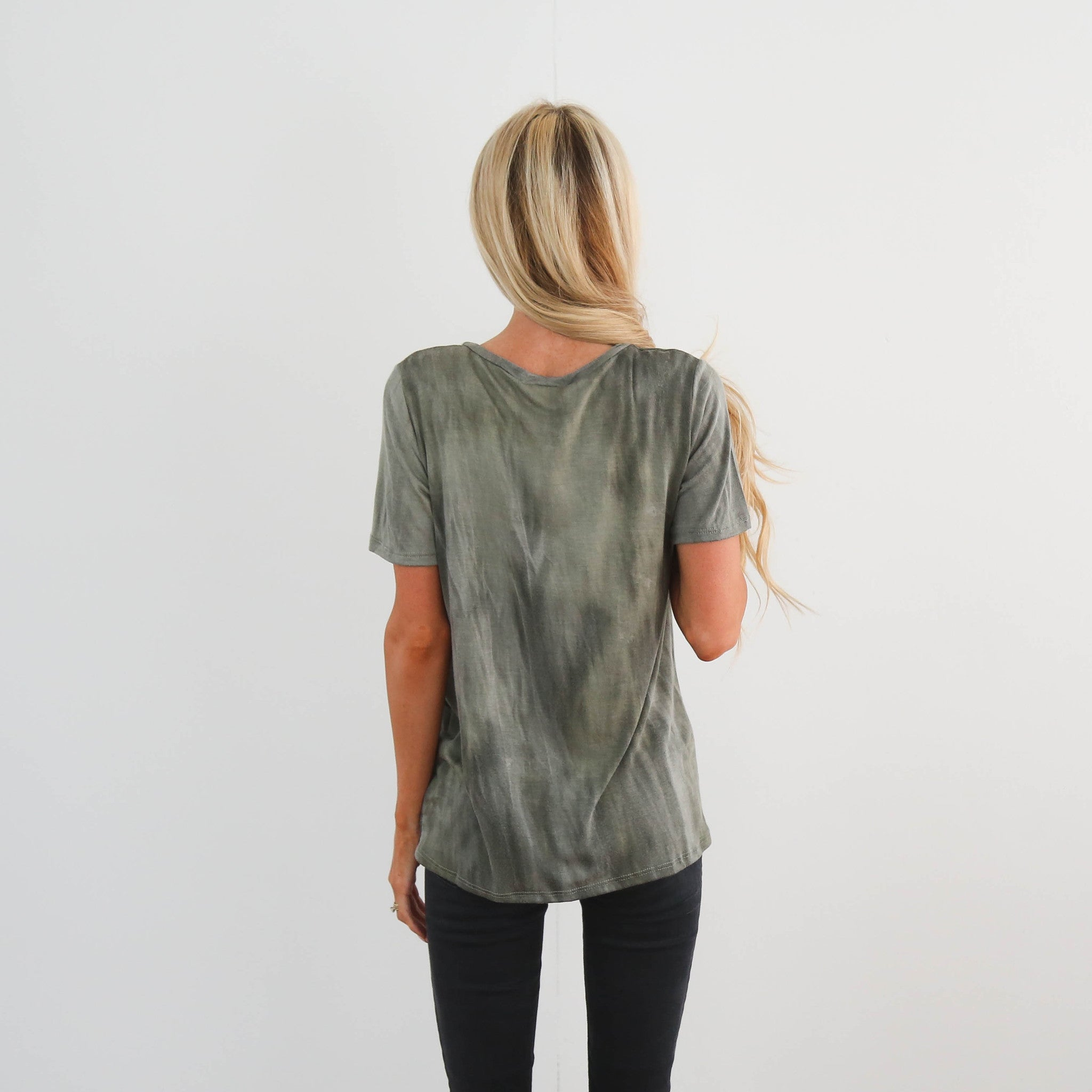 Olive Knot Tee