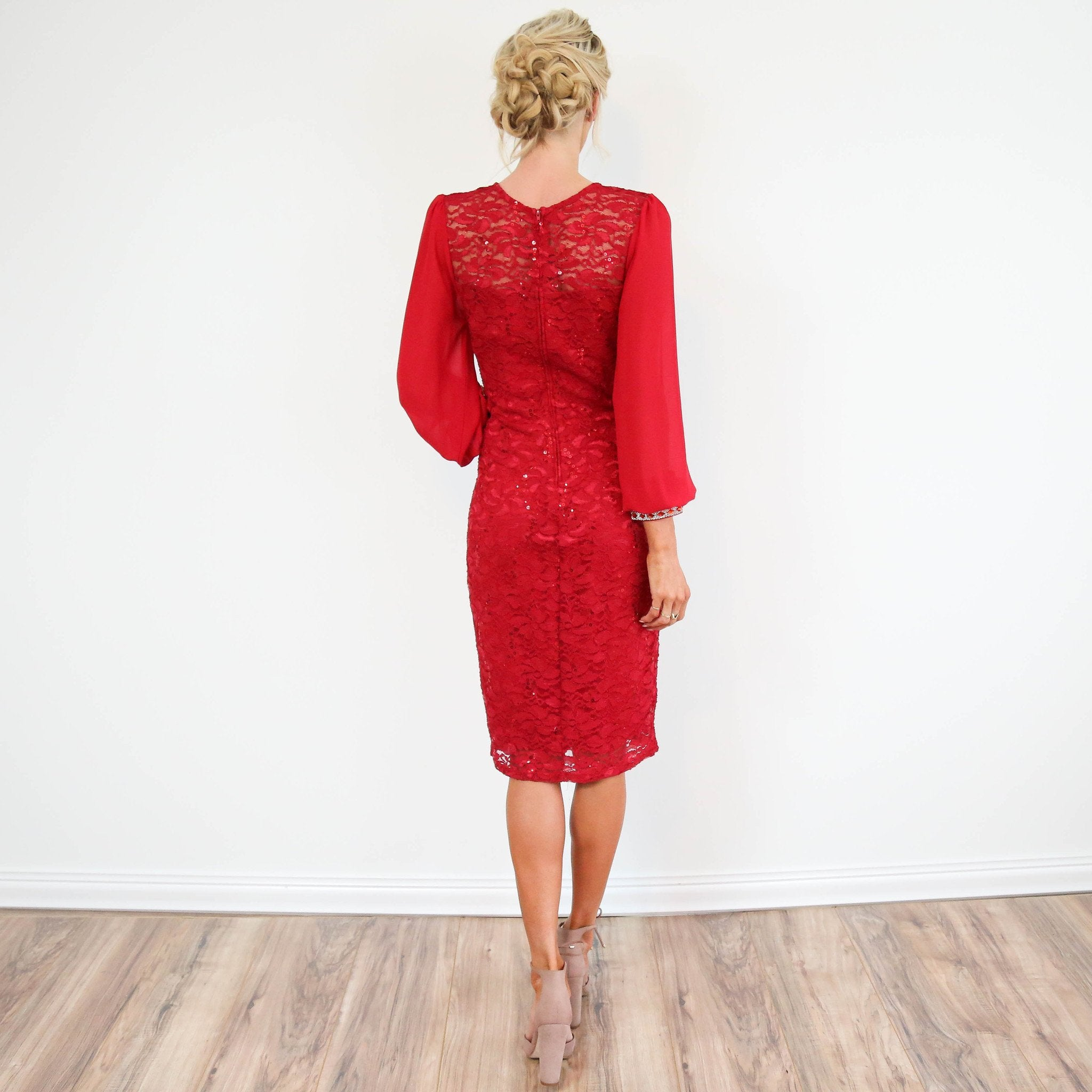 Adelle Dress in Red