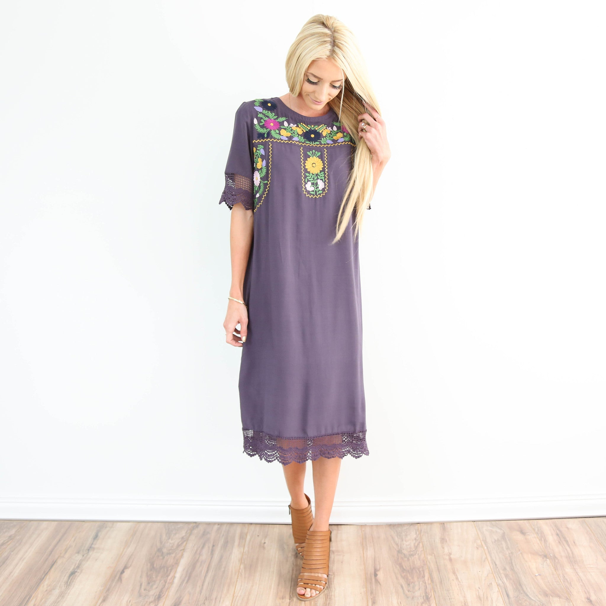 Tess Embroidered Lace Dress