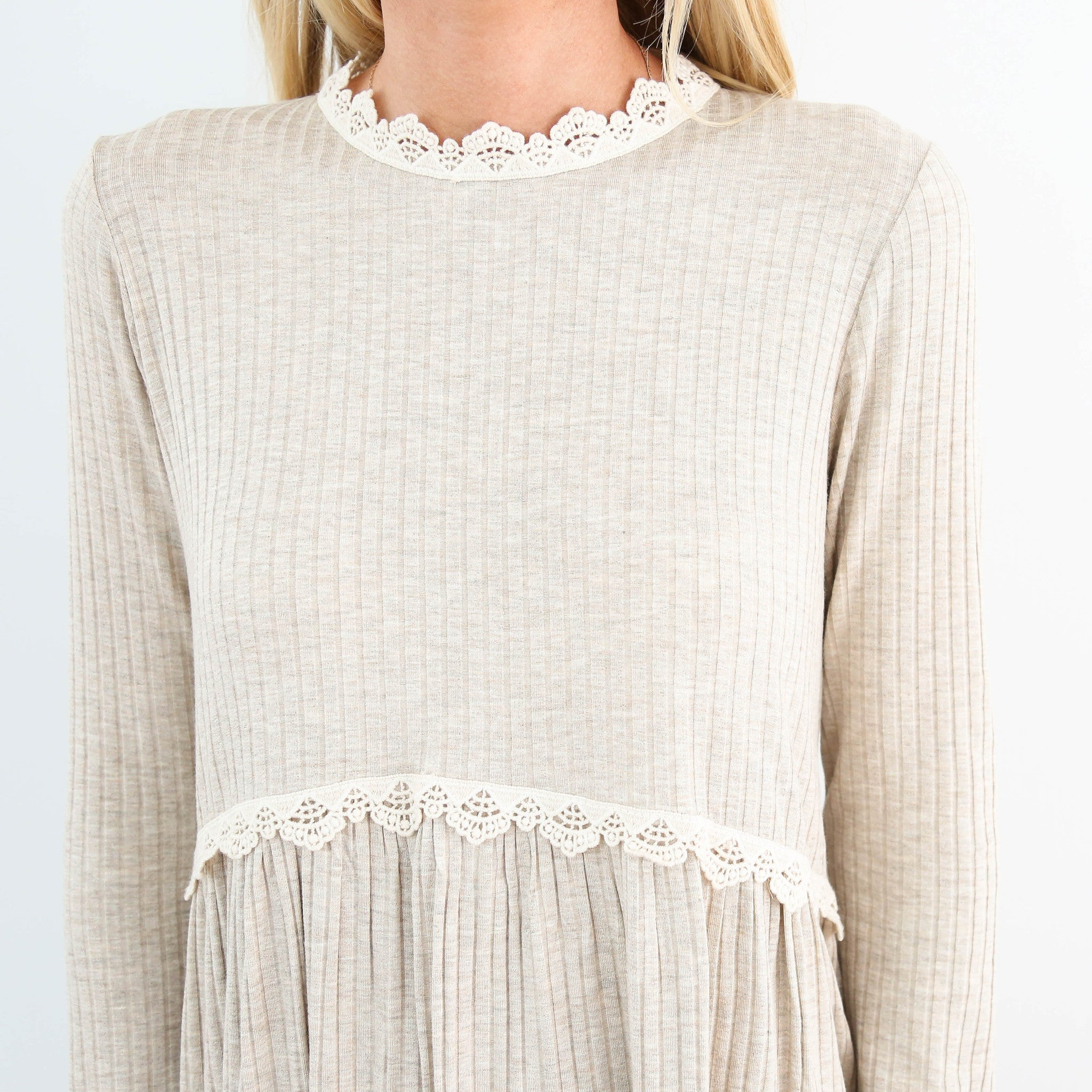 Tira Lace Neck Sweater