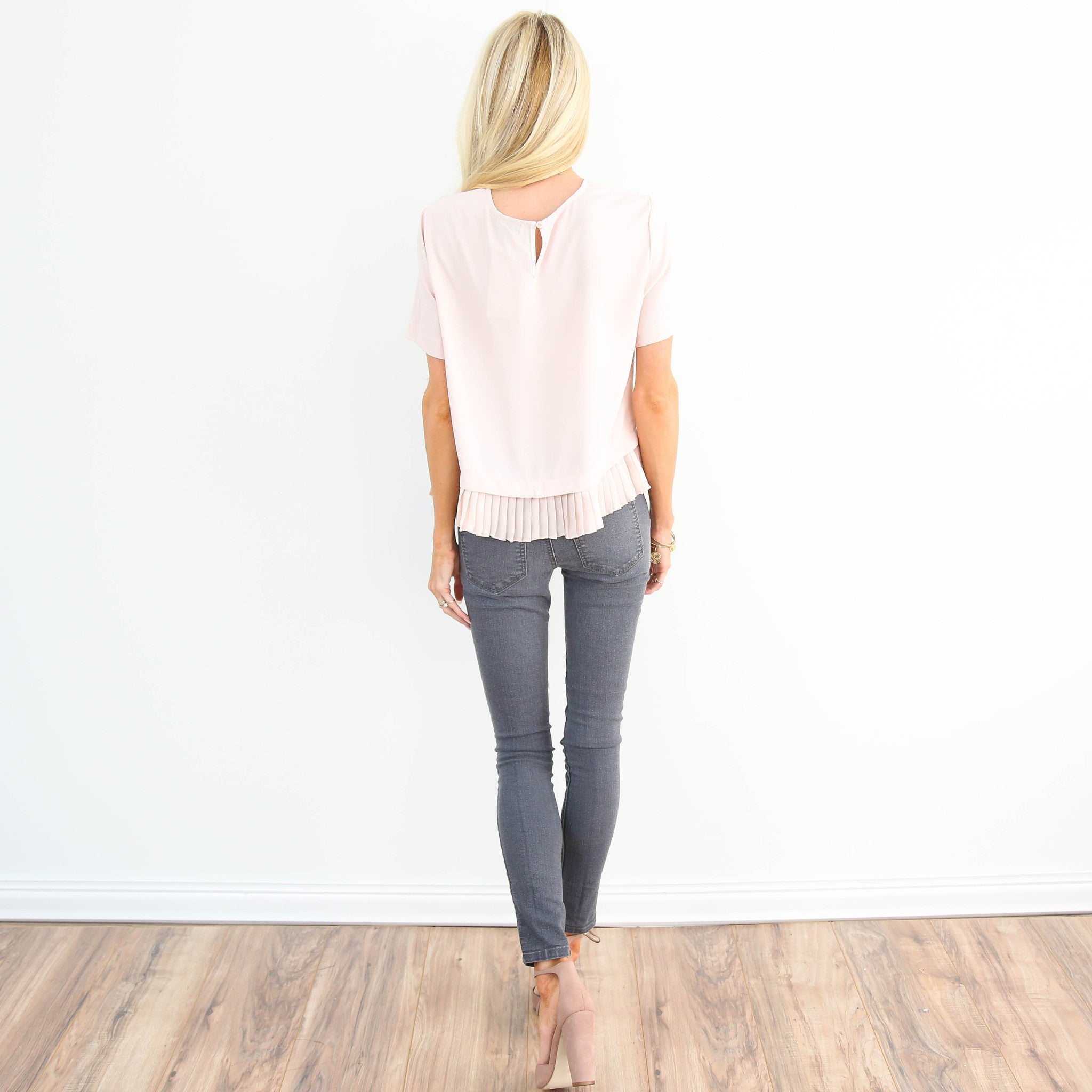 Blush Pleated Top