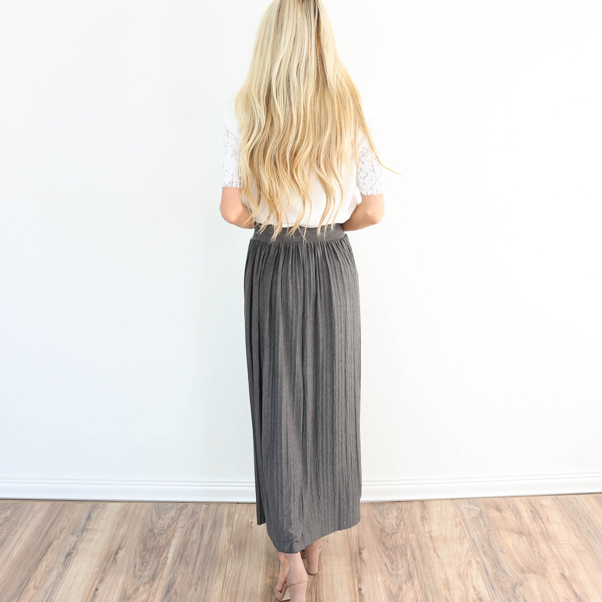 Darla Pleated Midi Skirt