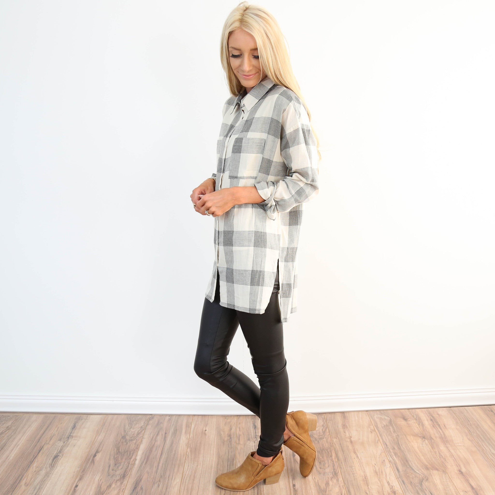 Midway Plaid Top
