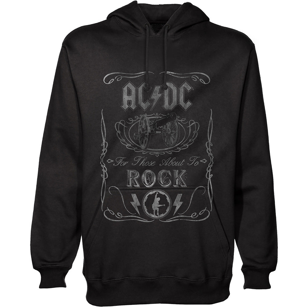 AC/DC Unisex Pullover Hoodie: Cannon Swig (Black) - House of Merch