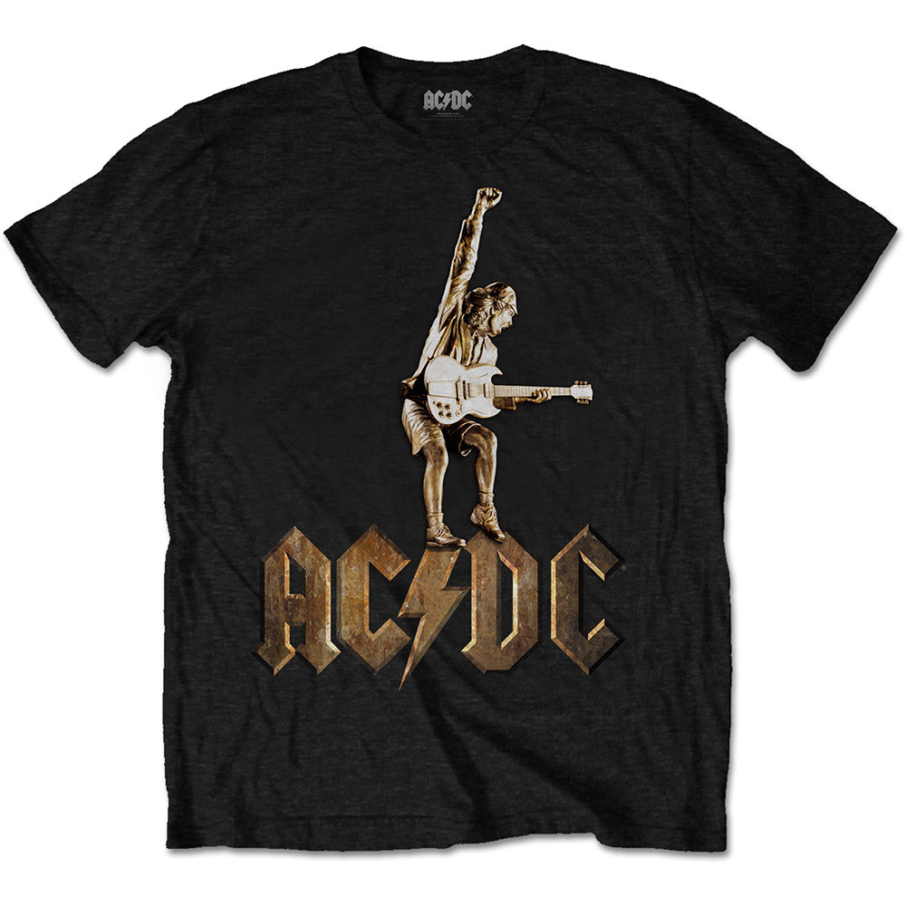 AC/DC Unisex Tee: Angus Statue (Black) - House of Merch