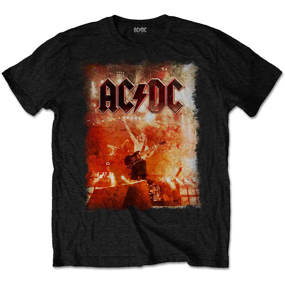 AC/DC Unisex Tee: Live Canons (Black) - House of Merch