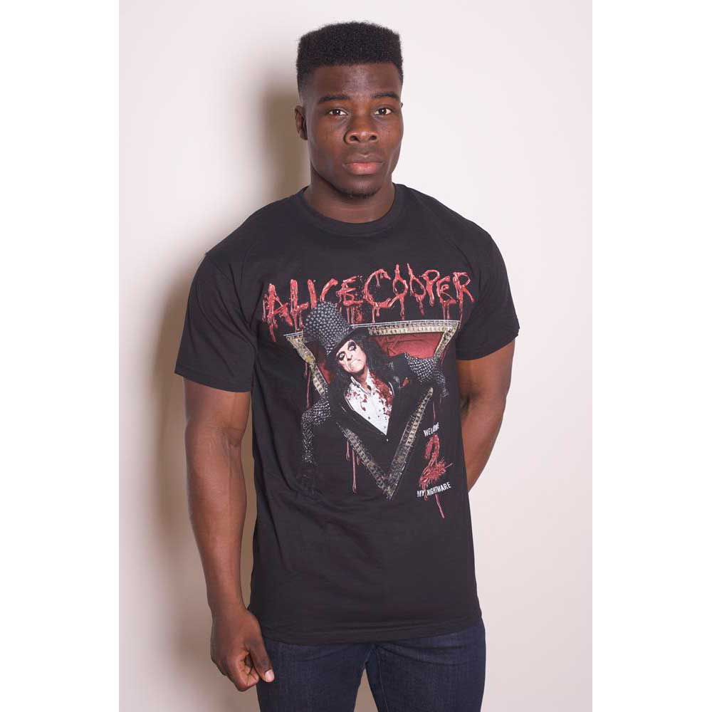 Alice Cooper Unisex Tee: Welcome to my Nightmare (Black) - House of Merch