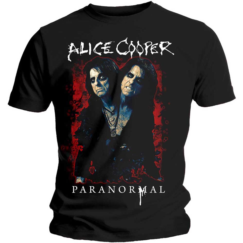 Alice Cooper Unisex Tee: Paranormal Splatter (Black) - House of Merch