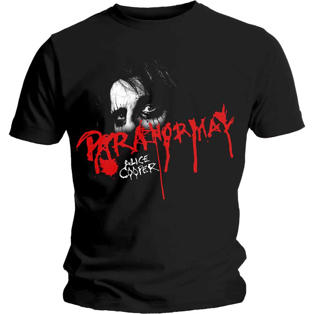 Alice Cooper Unisex Tee: Paranormal Eyes (Black) - House of Merch