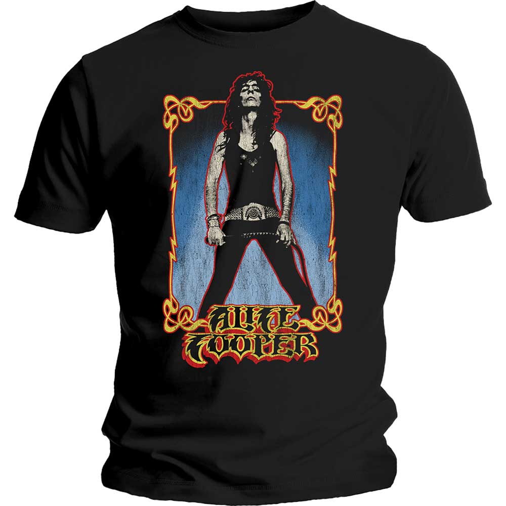 Alice Cooper Unisex Tee: Vintage Whip Washed (Black) - House of Merch
