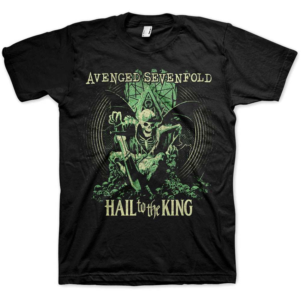 Avenged Sevenfold Unisex Tee: Hail to the King En Vie (Black) - House of Merch