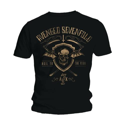 Avenged Sevenfold Unisex Tee: Shield & Sickle (Black) - House of Merch