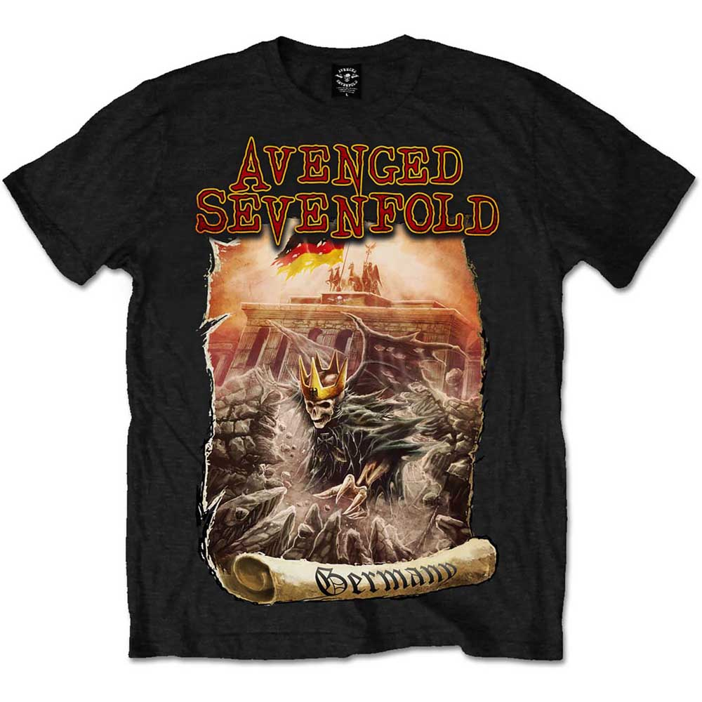 Avenged Sevenfold Unisex Tee: Germany (Black) - House of Merch