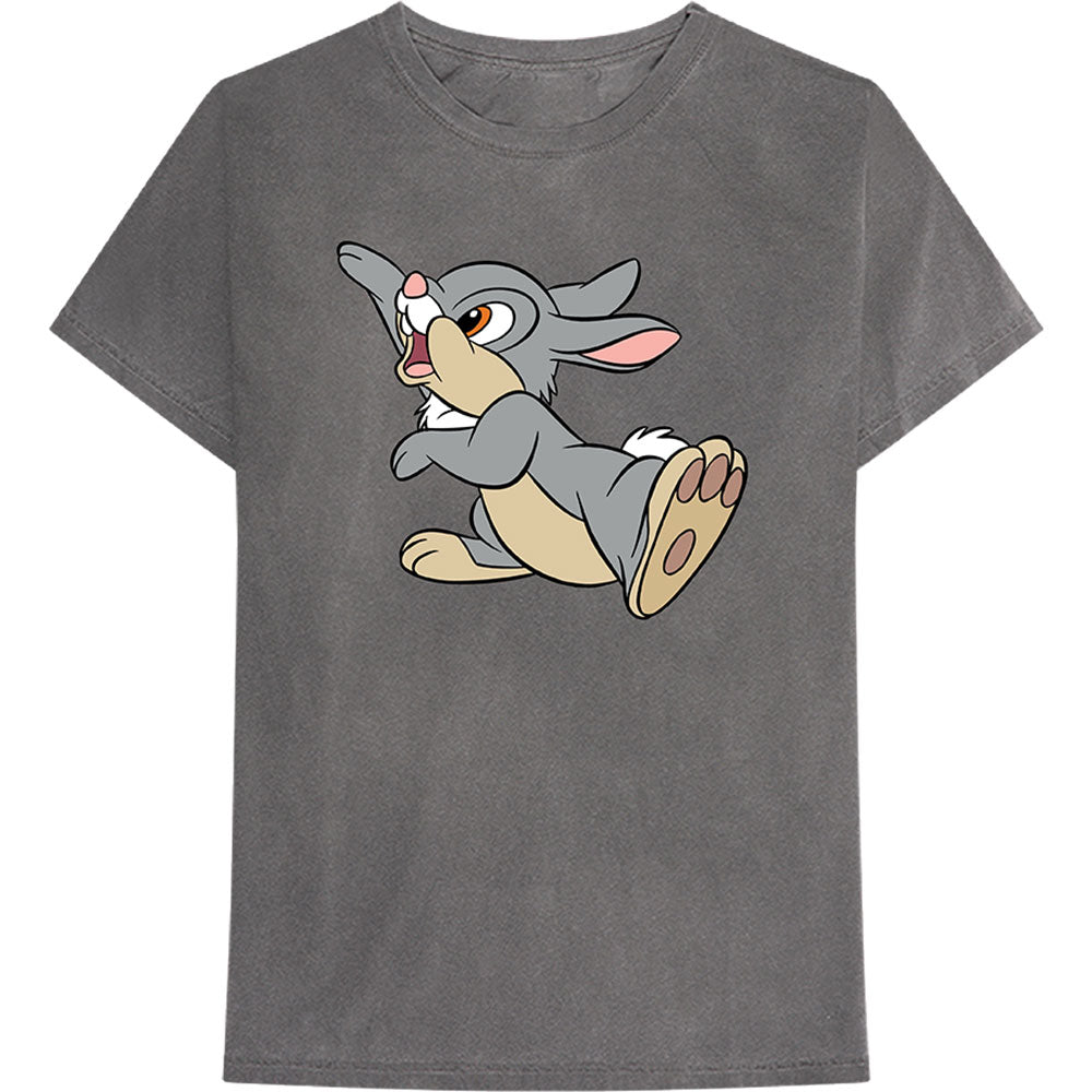 Disney Unisex Tee: Bambi - Thumper Wave (Charcoal Grey)