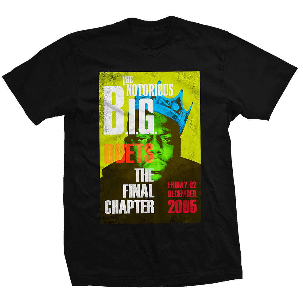 Biggie Smalls Unisex Tee: Final Chapter (Black) - House of Merch